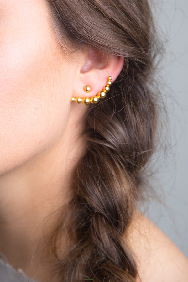 Katrine Kristensen - Gold Bullet Earring Single
