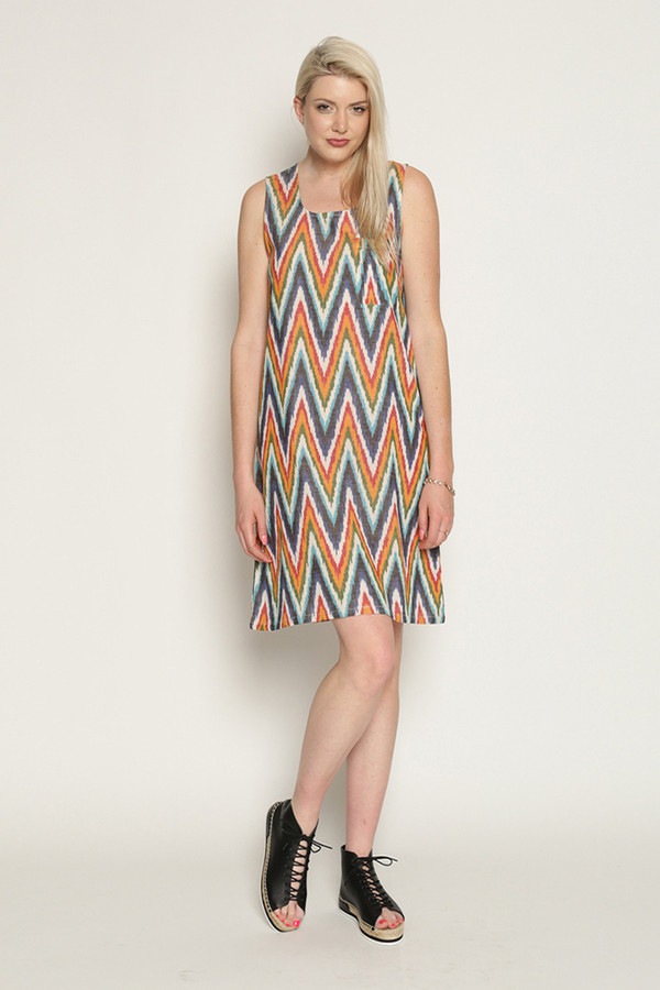Mary Meyer Woven Mini Dress in Multi