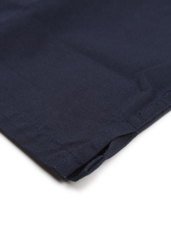 Men's MHL Margaret Howell Heavy Polo Shirt Workwear Poplin Navy