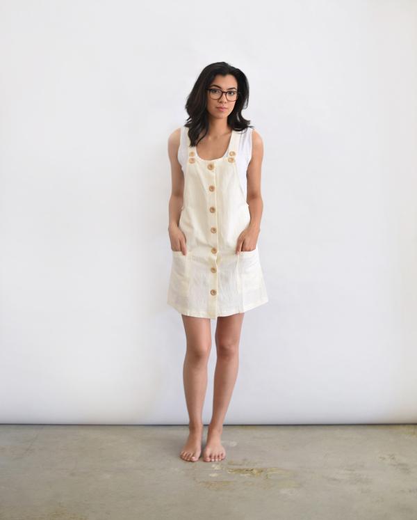 Lush Linen Overall Dress