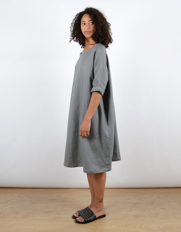 Sunja Link Pullover Dress Smoke
