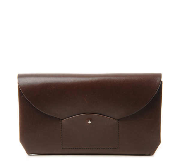 i ro se Dark Brown Ric Rac Long Wallet