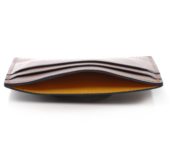 Hayden Leather Brown Money Clip Card Case