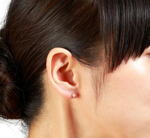 Satomi Kawakita E2902BK 14K White Diamond Earrings