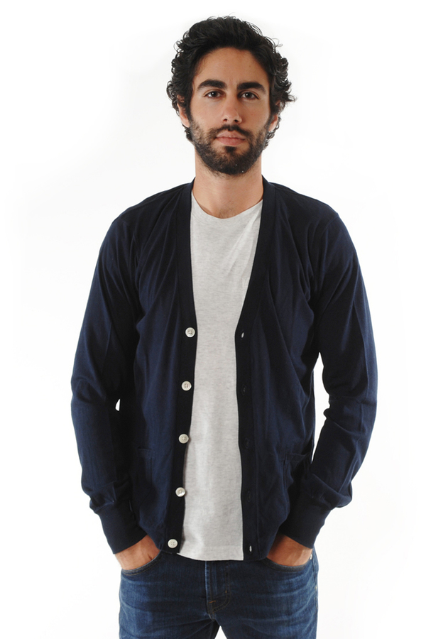 Men's FilMelange Deep Navy Dominic Cardigan