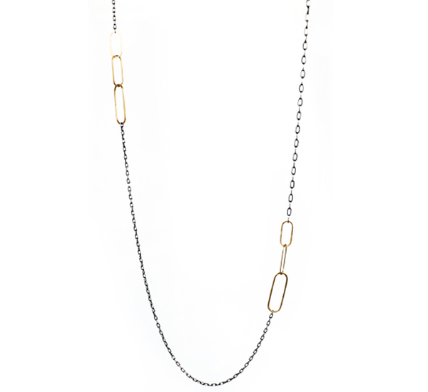 Rosanne Pugliese Chain With Mod Links 34 Inch Necklace