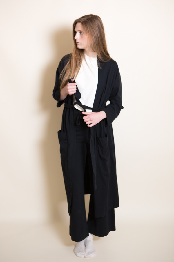 Pansy Robe / Black