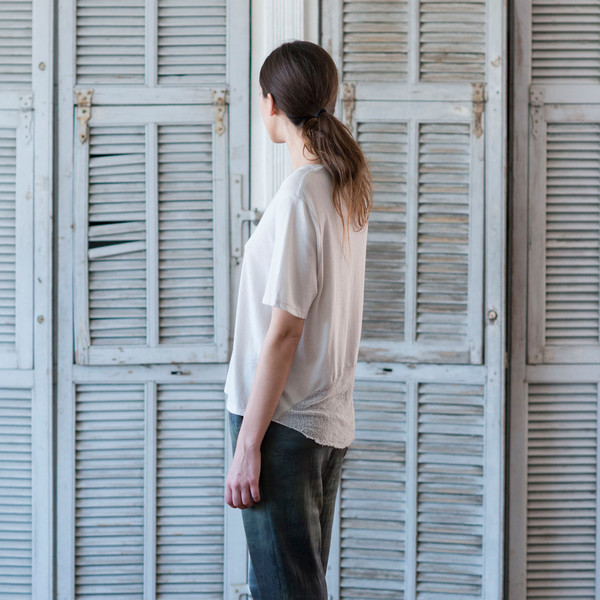 Raquel Allegra Boxy Tee Dirty White