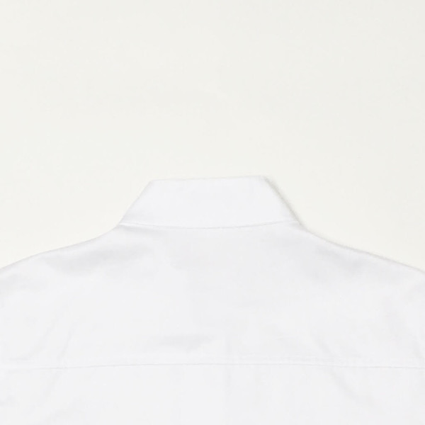 Shelby Steiner White Mandarin Collar Shirt