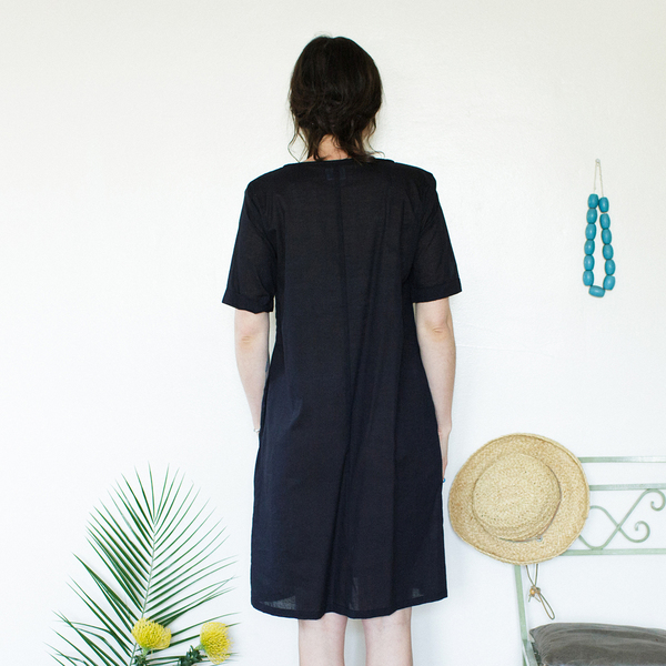 Me & Arrow Tall Dress - Lightweight Cotton Black
