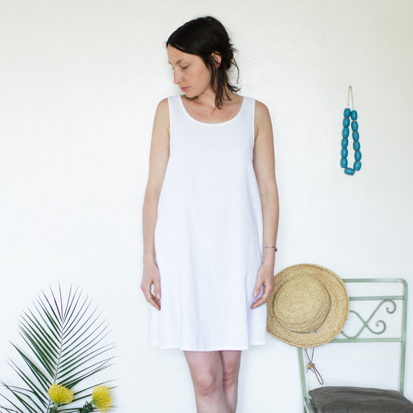 Me & Arrow  Basic Tank Dress White