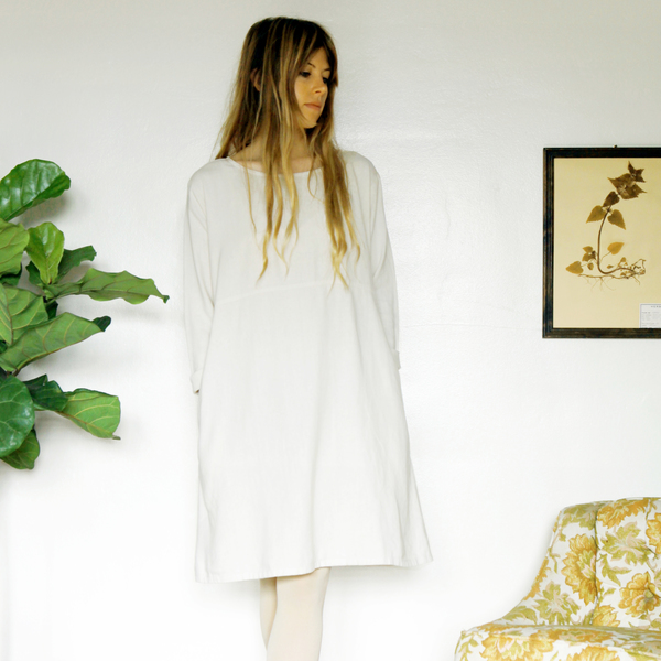 Unknown LS Basic Dress<br>Ivory