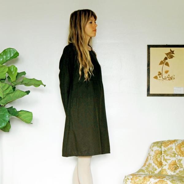 Unknown LS Basic Dress<br>Dark Olive