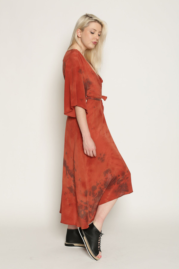 Upstate Duster Wrap Dress in Mars