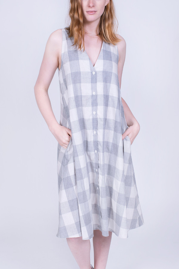 The Lady & the Sailor Garden Dress Plaid