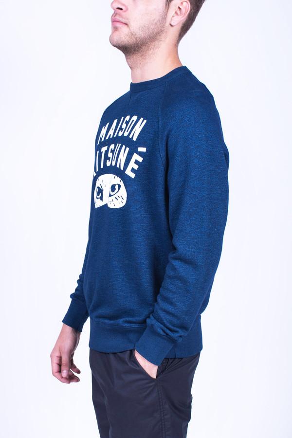 Men's Maison Kitsune Indigo Fox Eyes Sweatshirt