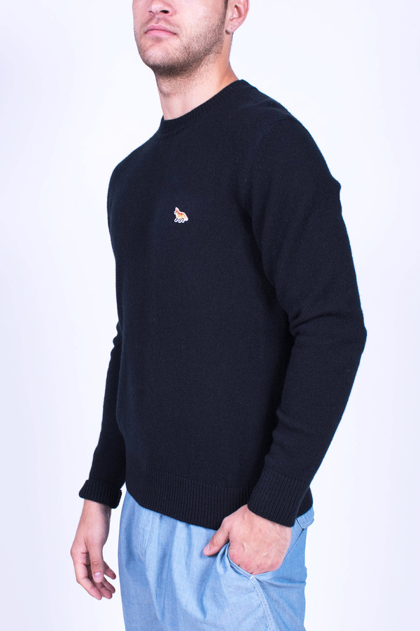 Men's Maison Kitsune Lambswool Round Neck Sweater