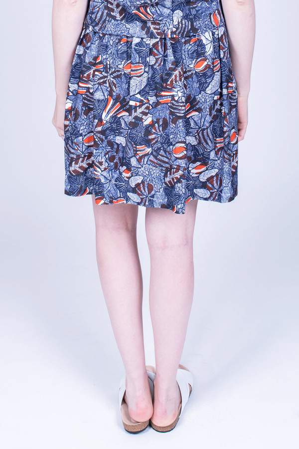 Maison Kitsune Lili Hibiscus Wrap Around Skirt
