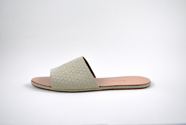 The Palatines Caelum slide sandal - beige hex leather