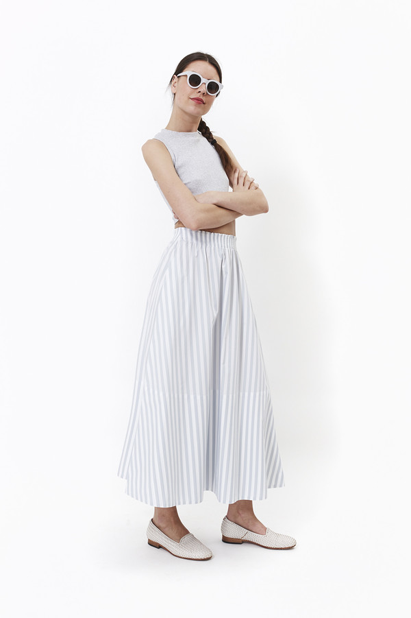 Mr. Larkin Lauren Skirt (Grey Stripe)