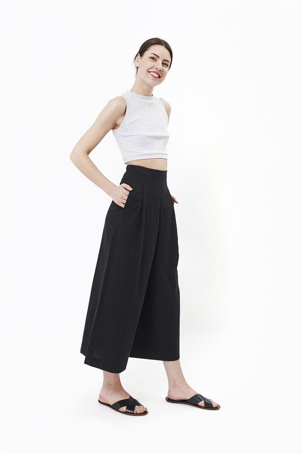 Nanushka Toho Hakama Pants (Black)