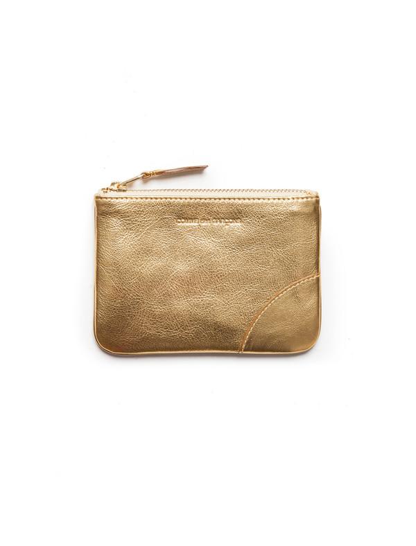 Comme des Garcons Classic Small Zip Wallet - Gold