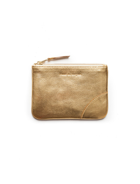 Comme des Garcons Classic Small Zip Wallet - Gold