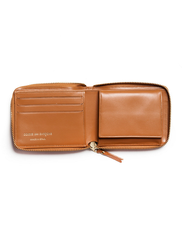 Comme des Garcons Luxury Group Full Zip Wallet - Beige