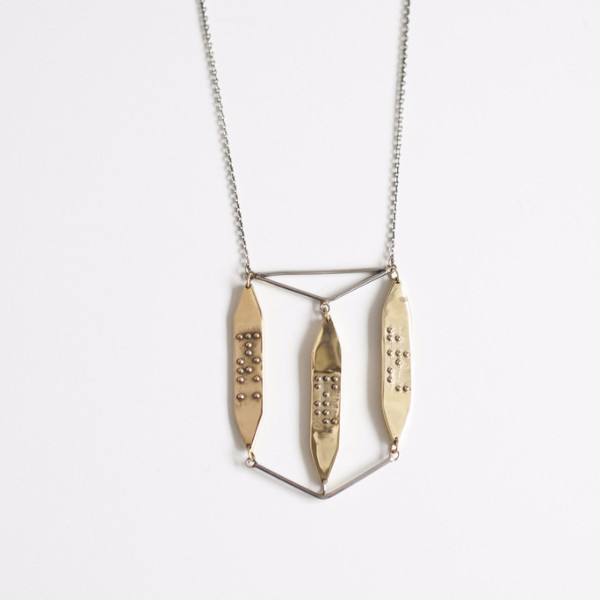 "Covet + keep Deborah Necklace - ""know thy self"""