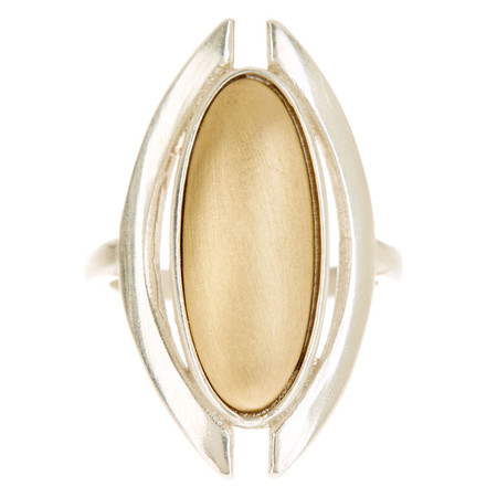 Tiffany Kunz Duality Ring Silver and Bronze