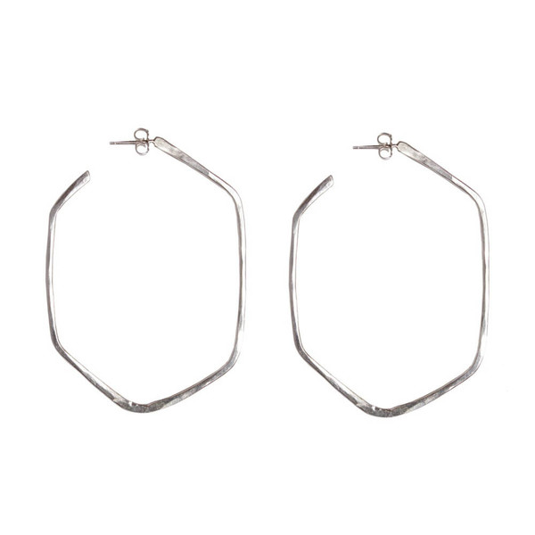 Tiffany Kunz Bold Silver Honeycomb Earrings