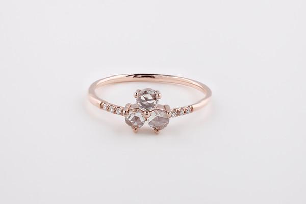 Jennie Kwon Designs Diamond Triad Equilibrium Ring