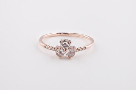Jennie Kwon Designs Diamond Triad Equilibrium Ring