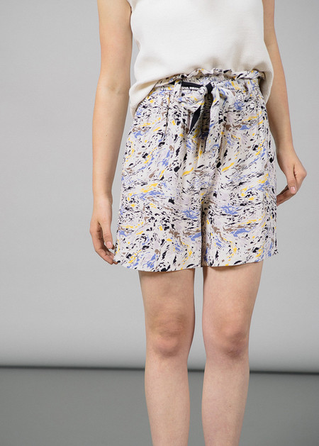 Storm & Marie Oil Short with Waist Tie