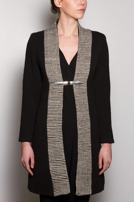 Voz Textile Lapel Coat