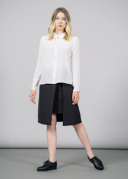 Just Female Wicked Collar Zip Silk Shirt