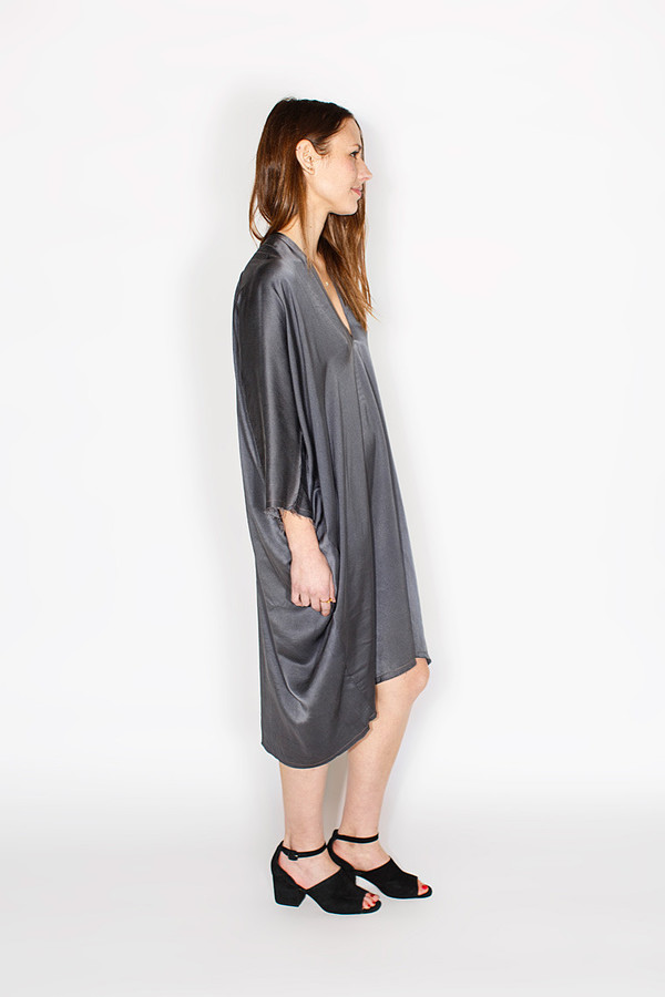 Miranda Bennett Muse Dress, Silk Charmeuse in Slate