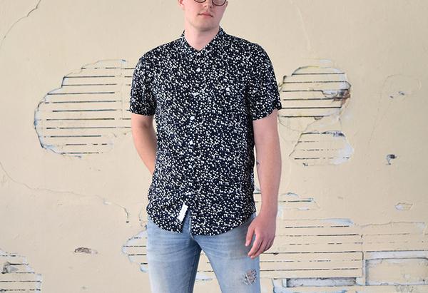 Men's Native Youth Navy Blot Print Shirt