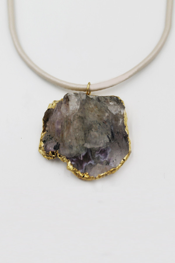 Sheila B Amethyst Flower Necklace