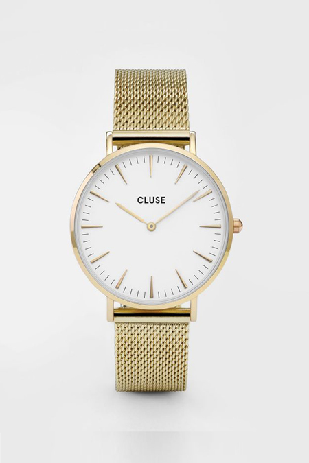 CLUSE WATCH La Boheme Mesh Gold/White