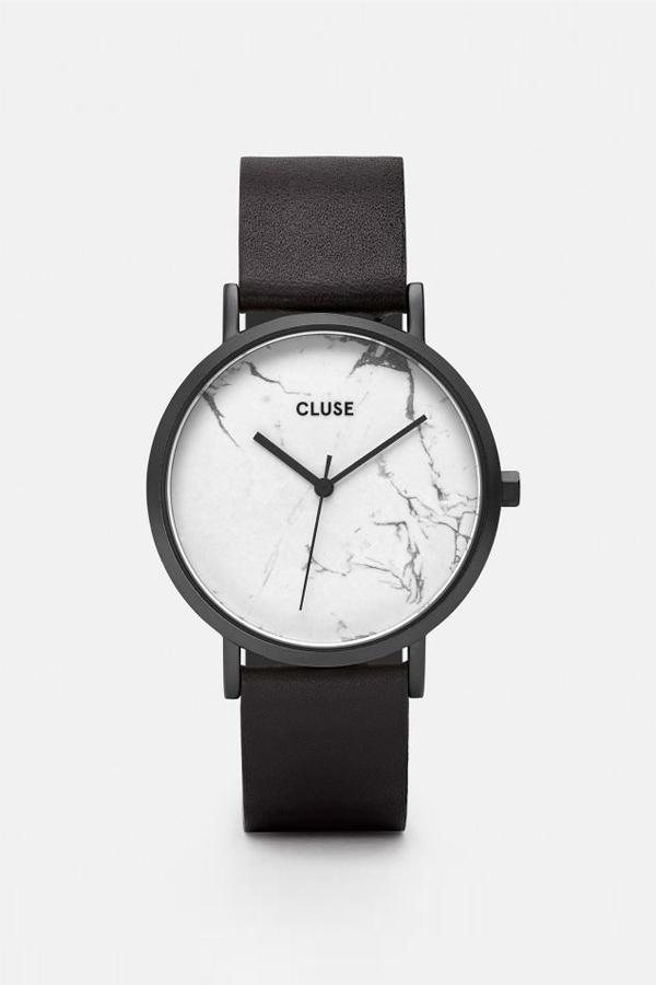 CLUSE WATCH La Roche Full Black/White Marble