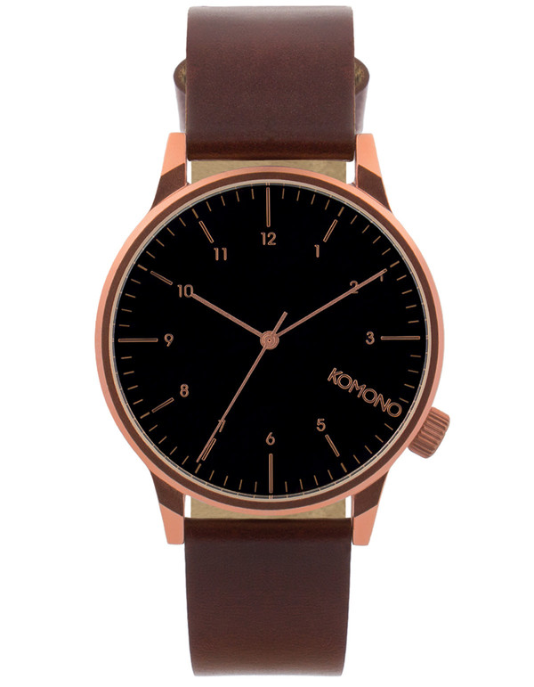 Komono Winston Regal Watch Burgundy