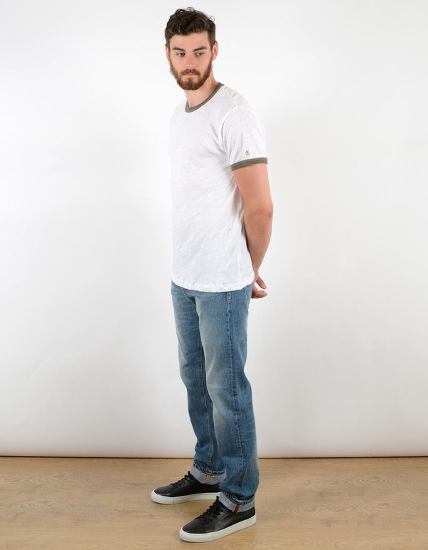 Men's Todd Snyder x Champion Short Sleeve Ringer Tee Surplus