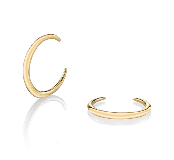Gabriela Artigas 14K Yellow Mini Rising Tusk Earrings