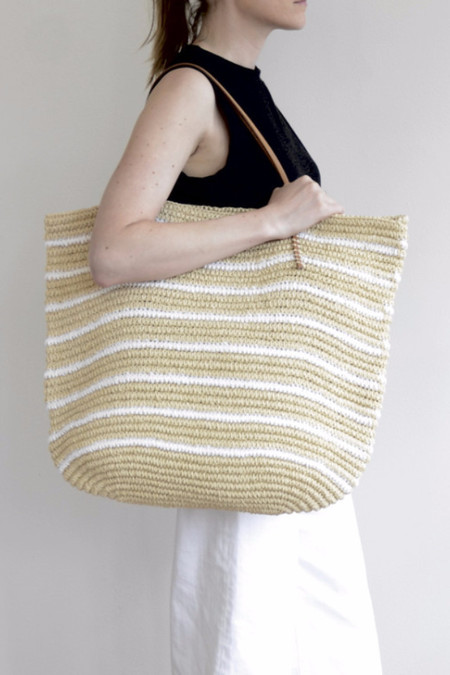 Hat Attack Twisted Stripe Tote