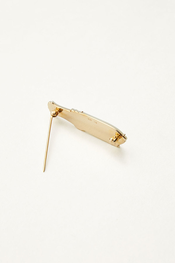 Kathleen Whitaker Mother-of-Pearl Fish Pin