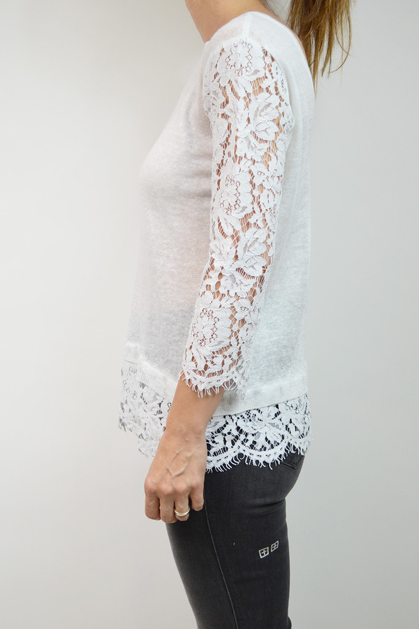 Generation Love Jessica Lace Long Sleeve I White