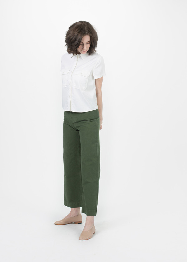 Cropped Military Shirt