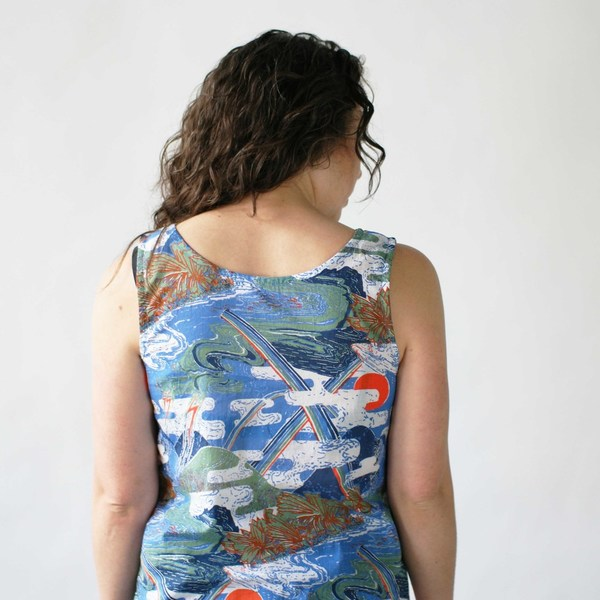 Gravel & Gold Reversible Corylus Tank Top
