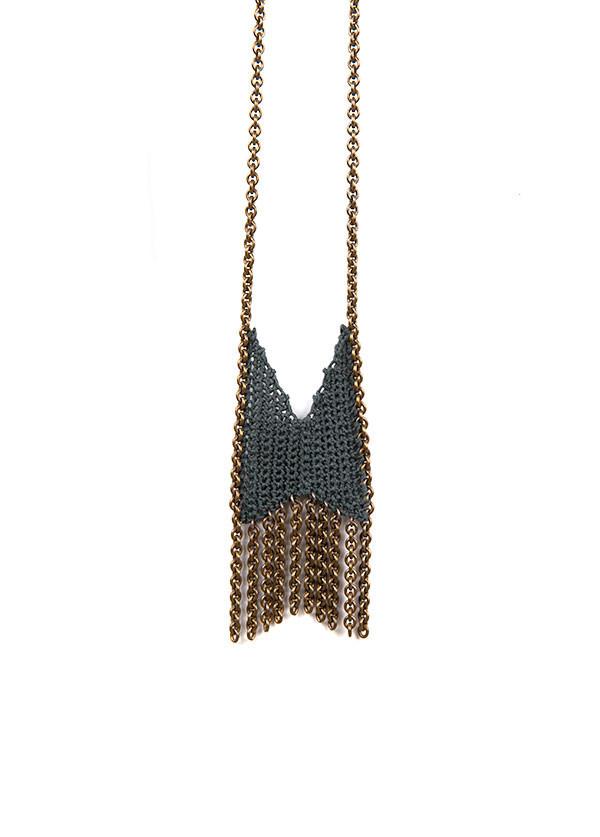 Boet Mini Chevron Fringe Necklace (More Colors)